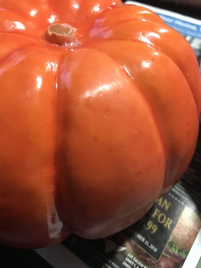 sanding the pumpkins