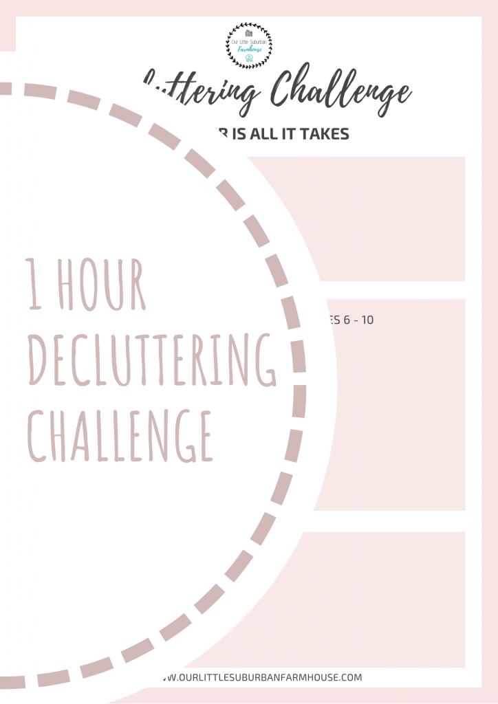 1 Hour Decluttering Challenge