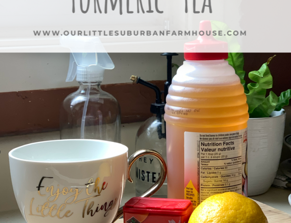 Lemon, honey and turmeric tea