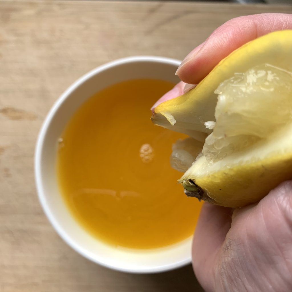Squeezing in the lemon