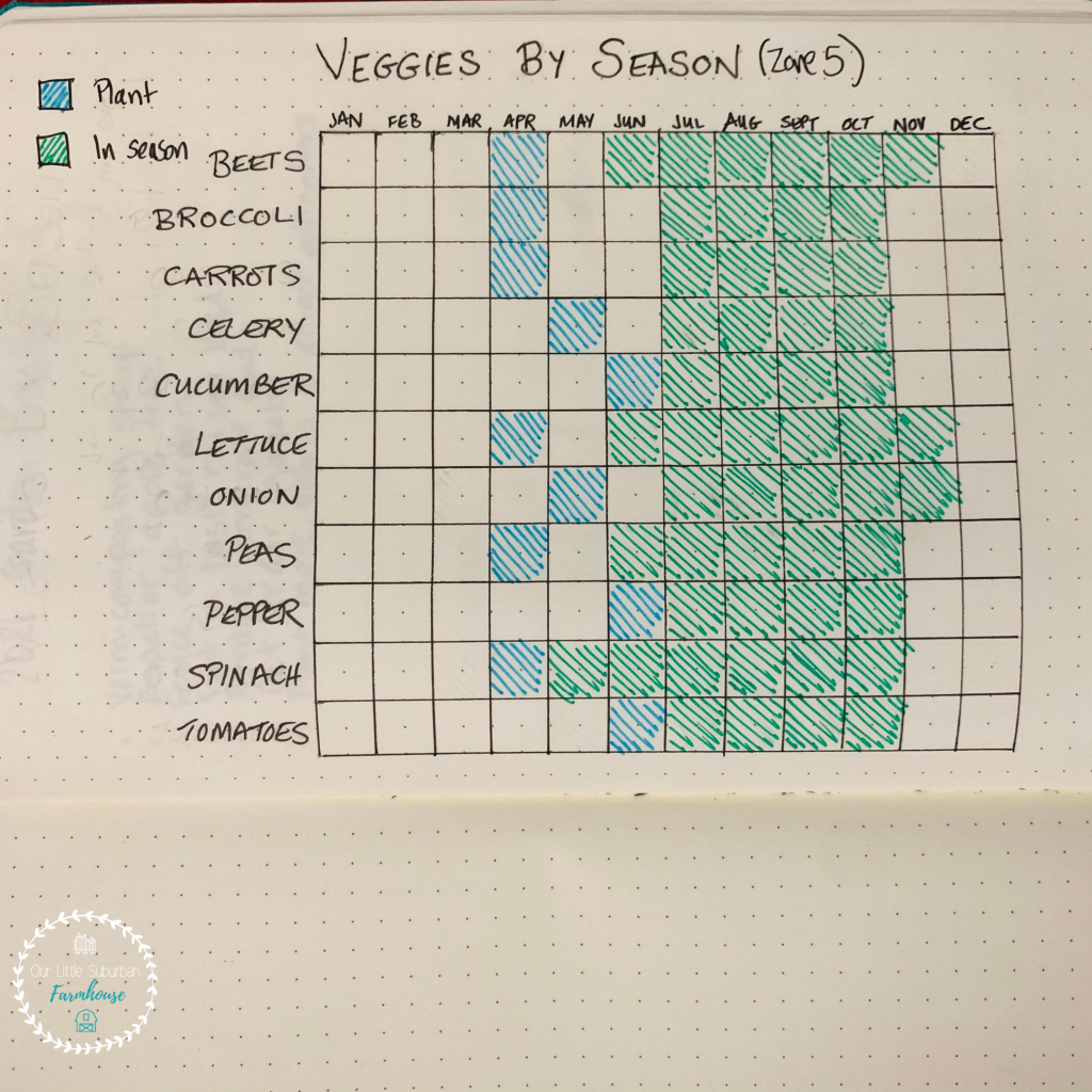 Veggies by season