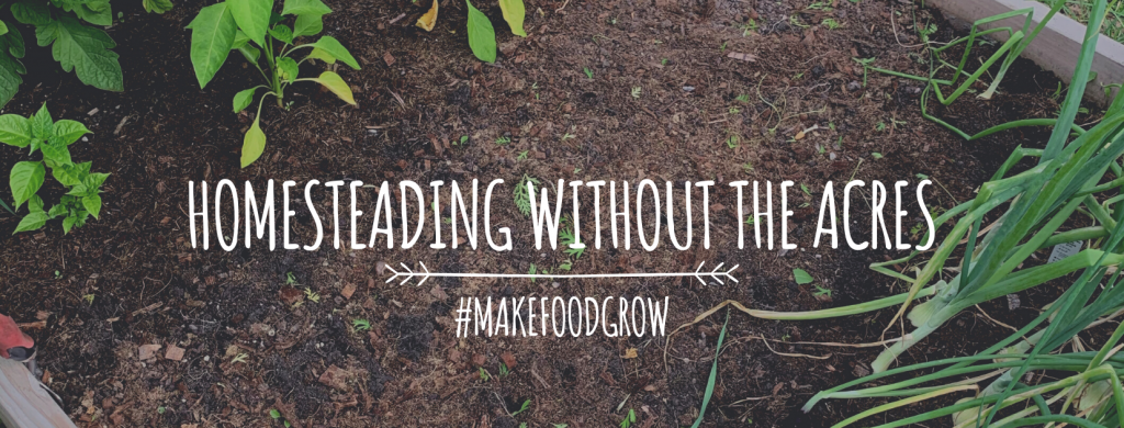 Homesteading without the acres #makefoodgrow