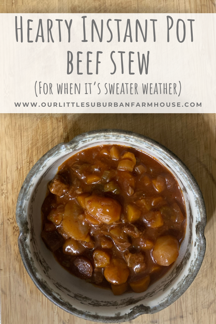 Hearty Instant Pot Beef Stew